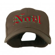Christmas Noel Shadow Embroidered Cap - Brown