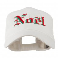 Christmas Noel Shadow Embroidered Cap - White