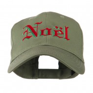Christmas Noel Shadow Embroidered Cap - Olive