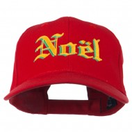 Christmas Noel Shadow Embroidered Cap - Red