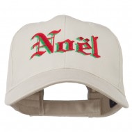 Christmas Noel Shadow Embroidered Cap - Stone