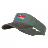Canoeing Patched Washed Dyed Visor - Black Green