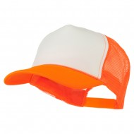 Neon Polyester Foam Front Trucker - Neon Orange