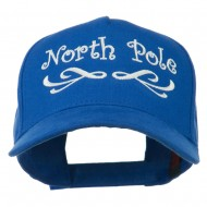 North Pole Christmas Embroidered Cap - Royal