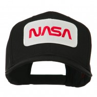 NASA Logo Embroidered Patched High Profile Cap - Black