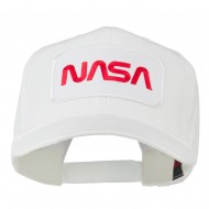 NASA Logo Embroidered Patched High Profile Cap - White