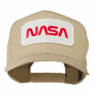 NASA Logo Embroidered Patched High Profile Cap - Khaki