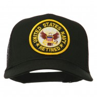 US Navy Retired Circle Patched Mesh Cap - Black