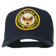 US Navy Retired Circle Patched Mesh Cap - Navy