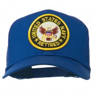 US Navy Retired Circle Patched Mesh Cap - Royal