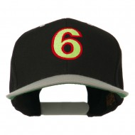 Arial Number 6 Embroidered Classic Two Tone Cap - Black Silver
