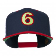 Arial Number 6 Embroidered Classic Two Tone Cap - Navy Red