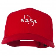 NASA Logo Embroidered Cotton Twill Cap - Red