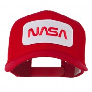 NASA Logo Embroidered Patched Mesh Back Cap - Red