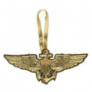 US Navy Embroidered Ornament Medallion - Gold
