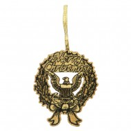 US Navy Embroidered Ornament Medallion - Gold Black