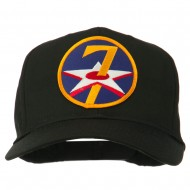 7th Air Force Division Patched Cap - Black
