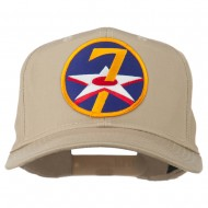 7th Air Force Division Patched Cap - Khaki