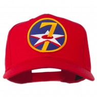 7th Air Force Division Patched Cap - Red