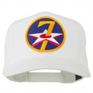 7th Air Force Division Patched Cap - White