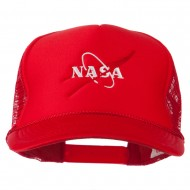 NASA Logo Embroidered Youth Foam Mesh Cap - Red