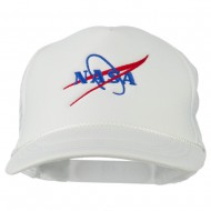 NASA Logo Embroidered Youth Foam Mesh Cap - White
