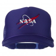 NASA Logo Embroidered Youth Foam Mesh Cap - Purple