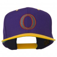 Greek Alphabet OMICRON Embroidered Cap - Purple Gold