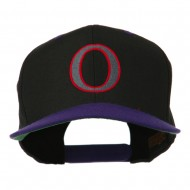 Greek Alphabet OMICRON Embroidered Cap - Black Purple
