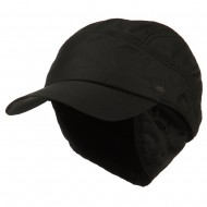 Outdoor Cap with Detachable Ear and Neck Warmer - Black