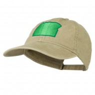 Oregon State Map Embroidered Washed Cotton Cap - Khaki