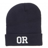 OG Oregon State Embroidered Long Beanie - Navy