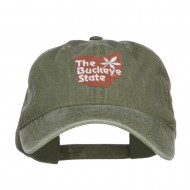 Ohio Buckeye State Embroidered Cap - Olive