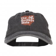 Ohio Buckeye State Embroidered Cap - Black