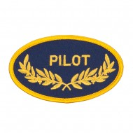 Oak Leaf Embroidered Military Patch - Pilot