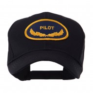 Oak Leaf Oval Shape Military Patch Cap - Pilot