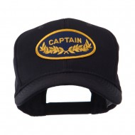 Oak Leaf Oval Shape Military Patch Cap - Captain