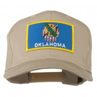 Oklahoma State High Profile Patch Cap - Khaki
