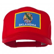 Oklahoma State High Profile Patch Cap - Red