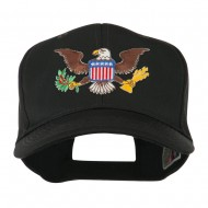 Other Embroidered Military Large Patched Cap - Brown Eagle
