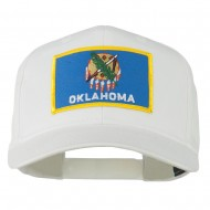 Oklahoma State High Profile Patch Cap - White