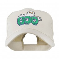 Halloween Ghost Boo Embroidered Cap - Stone