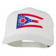 Ohio State High Profile Patch Cap - White