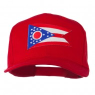 Ohio State High Profile Patch Cap - Red