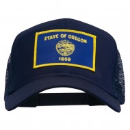 Oregon State Flag Patched Mesh Cap - Navy