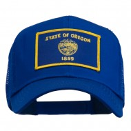 Oregon State Flag Patched Mesh Cap - Royal
