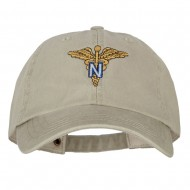 Army Nurse Corps Officer Embroidered Big Size Washed Cap - Stone