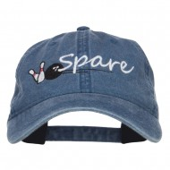 Bowling Spare Embroidered Washed Cap - Navy