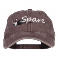 Bowling Spare Embroidered Washed Cap - Brown