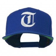 Old English T Embroidered Snapback Cap - Royal